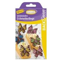 15 pcs Butterflies, dark chocolate