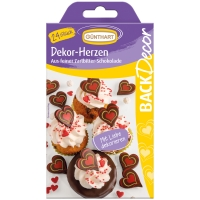 15 pcs Hearts, dark chocolate