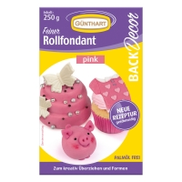8 pcs 250g rolled fondant, pink