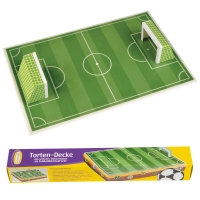 9 pcs Cake Cover football field with 2 goals in paper