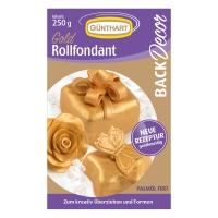 8 pcs 250g Rolling fondant, gold |Palm oil free