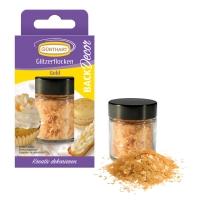 6 pcs Glitter flocks, gold |sugar free
