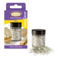 6 pcs Glitter flocks, silver |sugar free