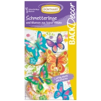 15 pcs. Wafer butterflies and flowers