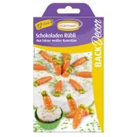 15 pcs Carrots, white chocolate
