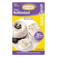 8 pcs 250g rolled fondant, white |Palm oil free