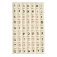 882 pcs Sugar Points w. letters  and numbers