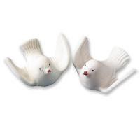 25 pcs White sugar doves
