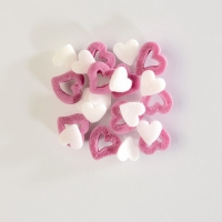 1,3 kg Sugar toppings,  Hearts , white/pink