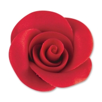 24 pcs Large marzipan roses with Azo compound, red