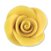 24 pcs Large marzipan roses, yellow