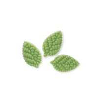 144 pcs Small marzipan rose leaves, green