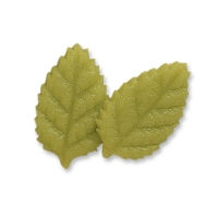 Small marzipan rose leaves, green