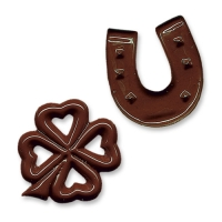 350 pcs Chocolate horseshoes and clover leafs