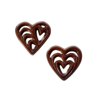 Chocolate filigrees, hearts