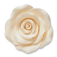 24 pcs Large roses, white