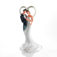 1 pcs Porcelain wedding couple with flower decorations