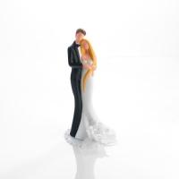 1 pcs Porcelain wedding couple with flower decoration