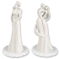 2 pcs Porcelain couple top, white, 2 versions