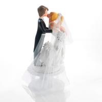 1 pcs Kissing wedding cake top, base with 2 babies