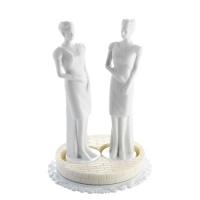 3 pcs Porcelain top  Woman , white