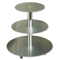3 pcs tier silver metal-stand
