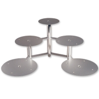 1 pcs Cake stand, silver/3 levels/5 plates