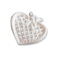 25 pcs Filigree heart, white, small