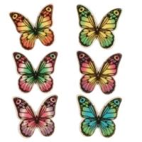 100 pcs Decor plaque butterflies