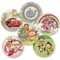 12 pcs Sugar coating plaques child motivs