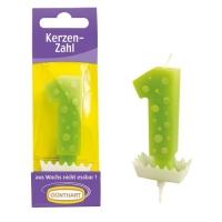 15 pcs Candle figure green  1