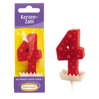 15 pcs Candle figure red  4