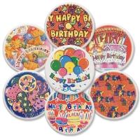 12 pcs Happy Birthday plaques