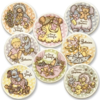 12 pcs Christening sugar coating plaques