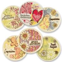 12 pcs Sugar coating plaques  Congratulations