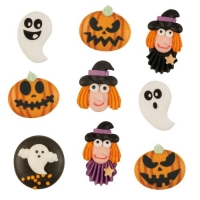 63 pcs Sugar figures  Halloween , flat, asstd.