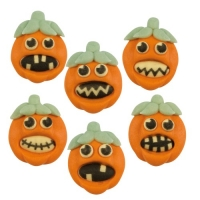 72 pcs Sugar pumpkins  Halloween , flat, assorted