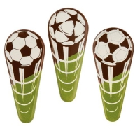 96 pcs Soccer-placer, dark chocolate, assorted
