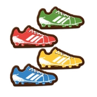 140 pcs Soccer shoe, dark chocolate, assorted