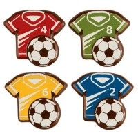 96 pcs Soccer T-shirt, dark chocolate, assorted