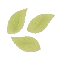 500 pcs Leaf Wafers, green, small