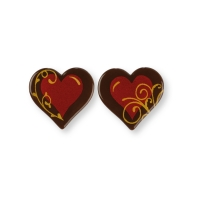Heart, dark chocolate, red, ass.