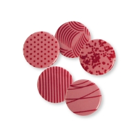 Plaques, ruby chocolate, assorted