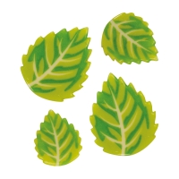 White chocolate leafs, large & small, assorted