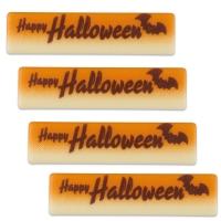 Plaque  Happy Halloween , white chocolate
