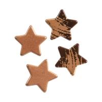 Christmas stars, small, dark chocolate, assorted