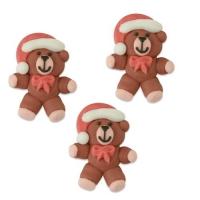 Sugar Santa Bear, flat
