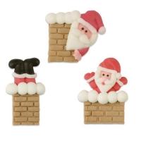 Sugar Santa in Chimney, flat, ass.