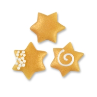 160 pcs Small marzipan stars, assorted