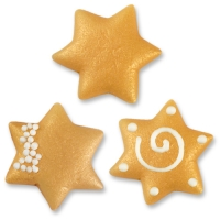 Large marzipan stars, assorted